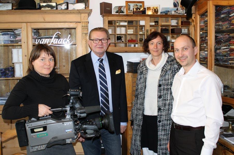 Drehtag für den MDR mit Herren-Unterhemd Hersteller ALBERT KREUZ