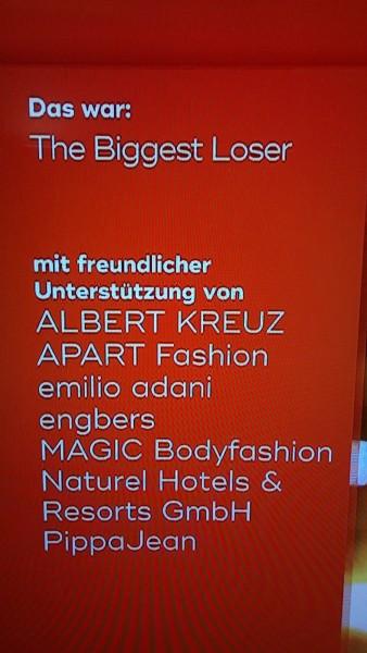 Shapewear von ALBERT KREUZ  auf SAT1 bei The Biggest Loser - Herrenwäsche Made in Germany