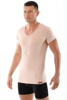 Business Unterhemd Hautfarbe Stretch-Baumwolle