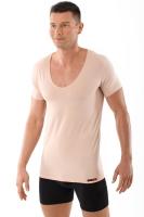 Business Unterhemd Hautfarbe Deep-V Stretch-Baumwolle