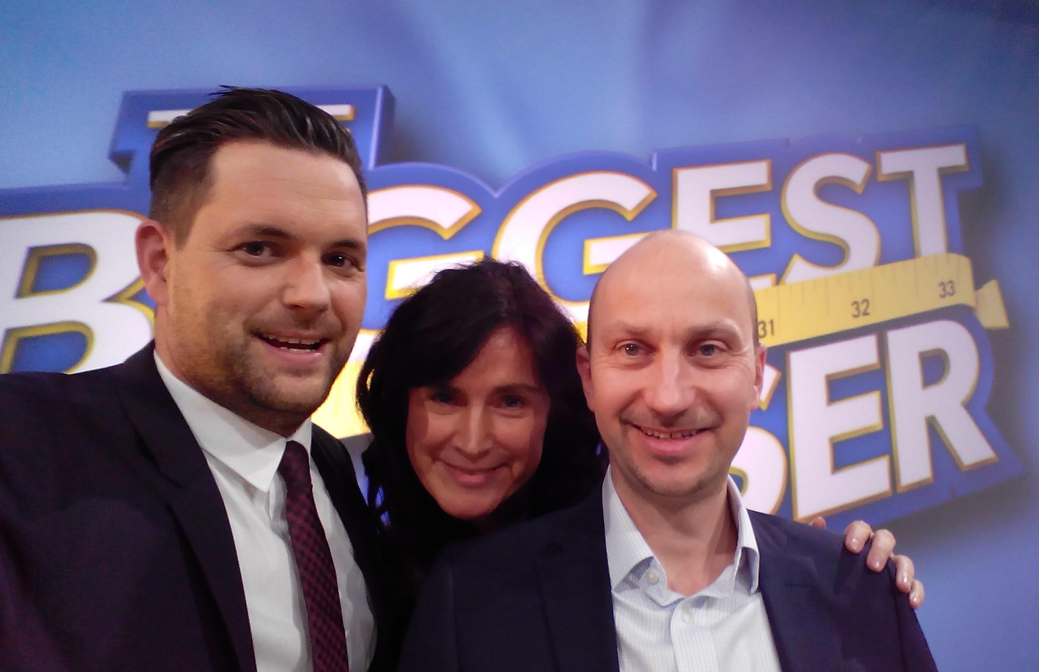 Moderator Matthias Killing mit Team ALBERT KREUZ - Finale The Biggest Loser 2017