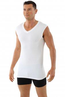 Business Unterhemd atmungsaktiv ohne Arm Stuttgart light Weiss