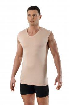 Herren Unterhemd unsichtbar V-Ausschnitt ohne Arm Micromodal light