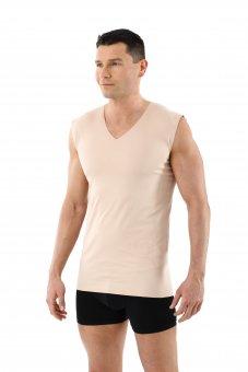 Herren Unterhemd unsichtbar Lasercut nahtlos Clean Cut V-Ausschnitt ohne Arm