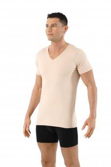 Herren Unterhemd unsichtbar Lasercut nahtlos Clean Cut V-Ausschnitt Kurzarm