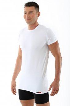 Unterhemd/Shirt Stretch Baumwolle Halbarm Hamburg weiß