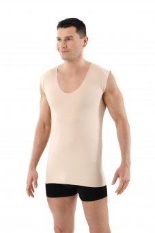 Herren Unterhemd unsichtbar Lasercut nahtlos Clean Cut Deep-V ohne Arm