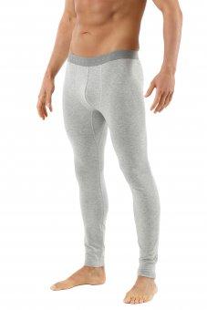 Lange Unterhose für Herren aus Bio-Baumwolle in grau mélange