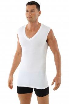 Atmungsaktives Unterhemd Deep-V-Neck ohne Arm light