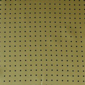 Krawattenschal Gelb mit Schwarzen Punkten, Dessin 200286