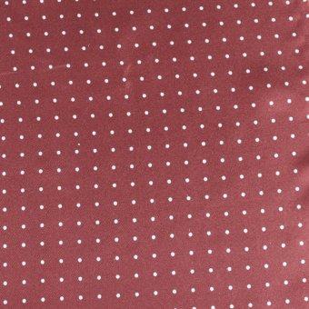 Krawattenschal Bordeaux mit Weißen Punkten, Dessin 200287