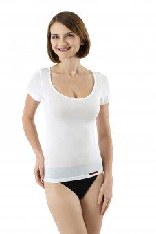 Damen Unterhemd weiß Kurzarm Micromodal