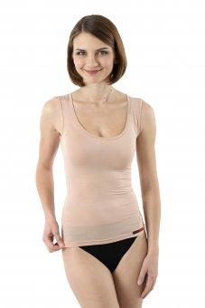 Damen Unterhemd unsichtbar ohne Arm Micromodal