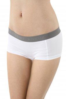 Damen Panty Boxershorts Stretch-Baumwolle weiß