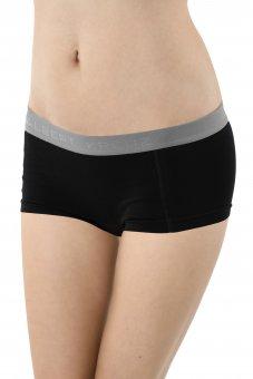 Damen Panty Boxershorts Stretch-Baumwolle schwarz