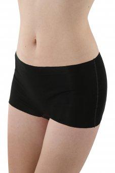3er Pack Damen Panty Shorts Lasercut nahtlos Clean Cut Baumwolle Elastan schwarz