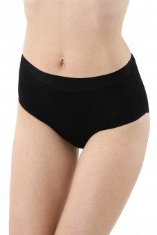 3er-Pack Damen Taillenslip Baumwolle Elastan schwarz