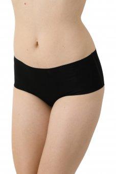 3er Pack Damen Taillenslip Lasercut nahtlos Clean Cut Baumwolle Elastan schwarz