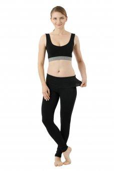 Yoga Leggings Bio-Stretchbaumwolle schwarz
