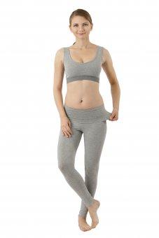 Yoga Leggings Bio-Stretchbaumwolle grau
