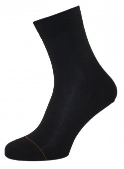 Damen Socken Baumwolle mit Cashmere Innenseite Schwarz