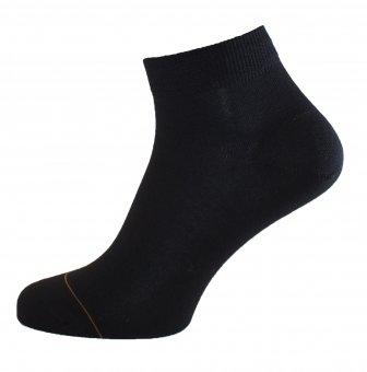Damen Sneaker Socken Baumwolle mit Cashmere Innenseite Schwarz