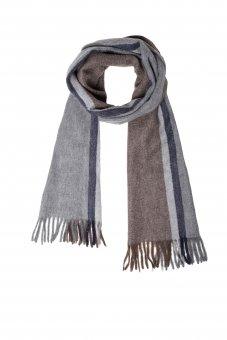 Cashmere Schal für Damen und Herren mit Streifen 170 x 35 cm