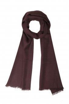 Cashmere Schal für Damen und Herren Rotbraun  200 x 65 cm