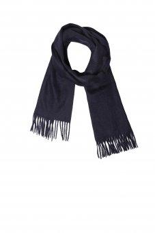 Cashmere Schal für Damen und Herren Marine 150 x 30 cm