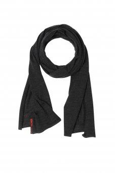Merino Wolle-Seiden-Schal für Damen und Herren uni anthrazit 40 x 200 cm