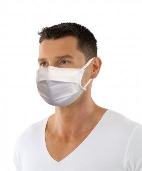 Mund- Nase Maske mit Nasenclip und Ohrschlaufen Baumwoll-Polyester-Twill