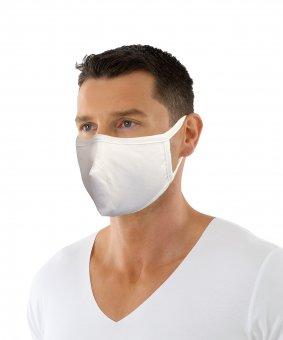 Mund und Nasen Maske aus Bio-Baumwolle mit Nasenbügel zweilagig