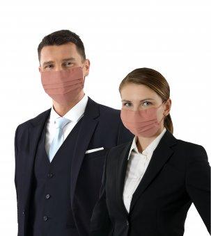 3er-Pack Mund-Nase-Maske zertifiziert Bio-Baumwolle mehrlagig antibakteriell Altrosé
