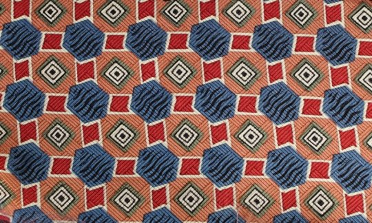 Seidenschal Rot, Gruen, Blau, Weiß, Rosa - gemustert, Dessin 200055