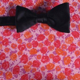 Schleife-Fliege Rot, Orange, Rosa - Blumen, Dessin 200067