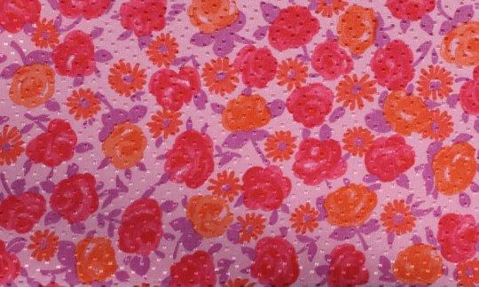 Einstecktuch Rot, Orange, Rosa - Blumen, Dessin 200067