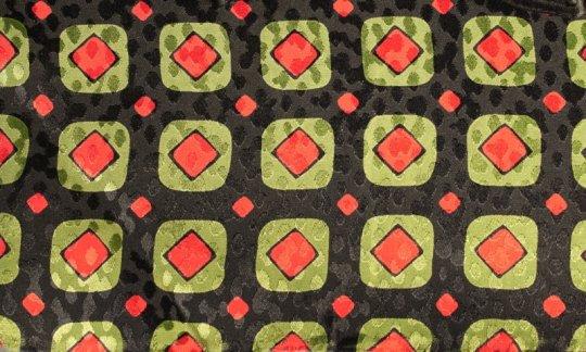 Krawattenschal Rot, Gruen, Schwarz - Karos, Dessin 200090
