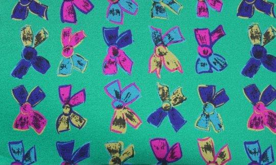 Einstecktuch Gelb, Gruen, Rot, Violett - Motive, Dessin 200098