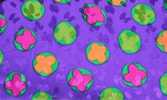Krawatte Gelb, Gruen, Flieder, Violett - Blumen, Dessin 200099