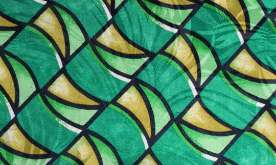 Krawattenschal Gelb, Gruen, Schwarz, Weiß - gemustert, Dessin 200104 Krawattenschal