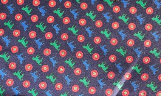Plastron Rot, Gruen, Blau, Marine - Motive, Dessin 200110