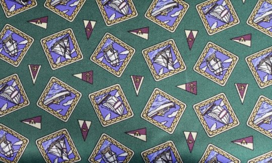 Plastron Gruen, Blau, Violett - Motive, Dessin 200112