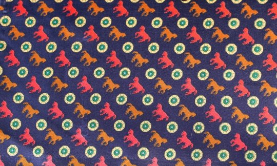 Krawattenschal Rot, Marine, Braun, Creme - Motive, Dessin 200114