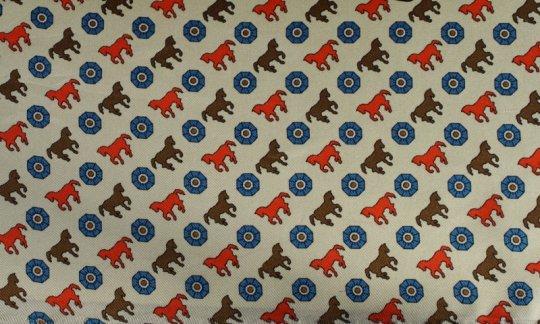 Krawatte Rot, Gelb, Blau, Braun, Creme - Motive, Dessin 200115