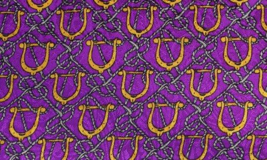 Plastron Gelb, Gold, Violett - Motive, Dessin 200130