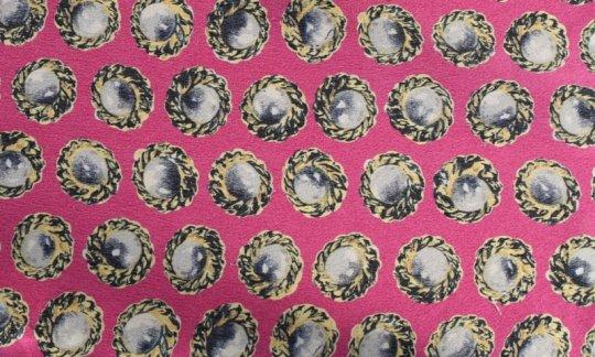 Krawatte Gelb, Violett, Creme - Motive, Dessin 200132