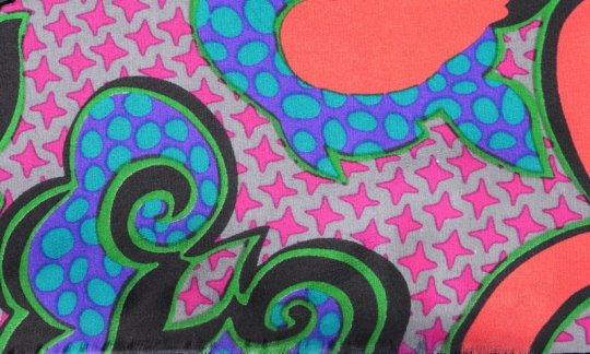 Krawattenschal Grau, Pink, Orange, Schwarz, Grün - gemustert, Dessin 200143