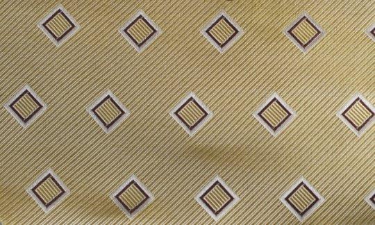 Einstecktuch Gelb - Karos, Dessin 200157
