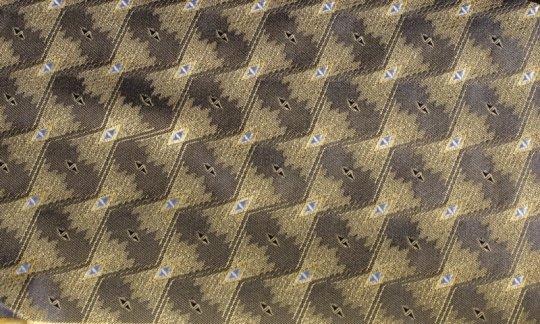 Einstecktuch Gelb, Schwarz - gemustert, Dessin 200159