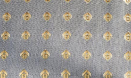 Seidenschal Gold - Karos, Dessin 200166